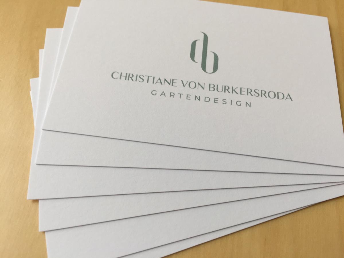Logo des Planungsbüros für Gartendesign von Christiane von Burkersroda, CvB Gartendesign