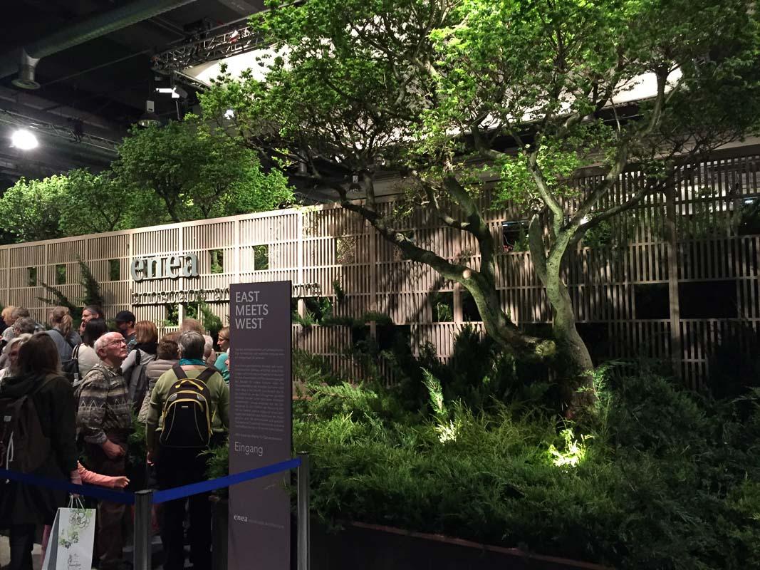 Vor dem Showgarten von Landschaftsarchitekt Enzo Enea bildeten sich Schlangen.