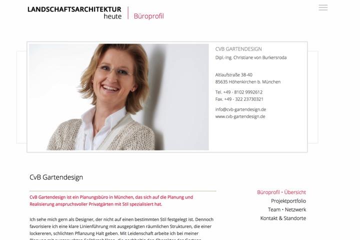 Gartendesignerin Christiane von Burkersroda ist Mitglied beim bdla, dem Bund der Landschaftsarchitekten (Screenshot)