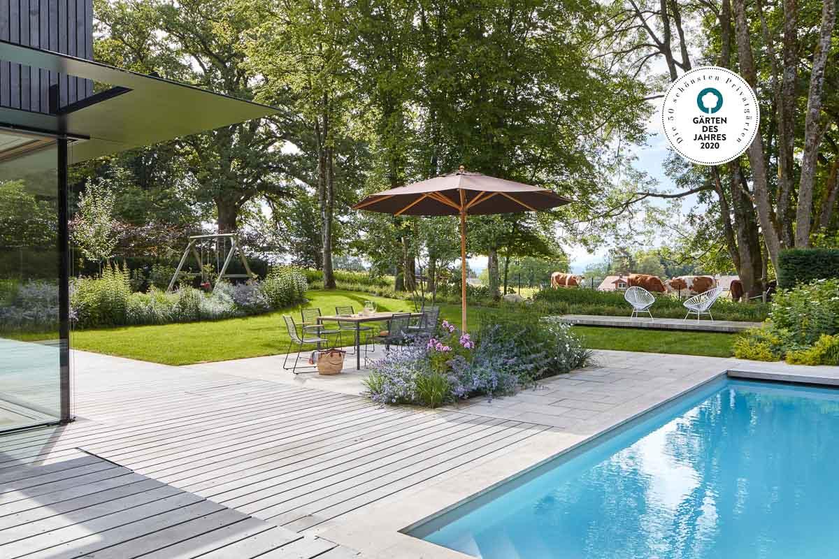 Preisgekröntes Gartendesign. Auszeichnung 50 schönste Privatgärten 2020