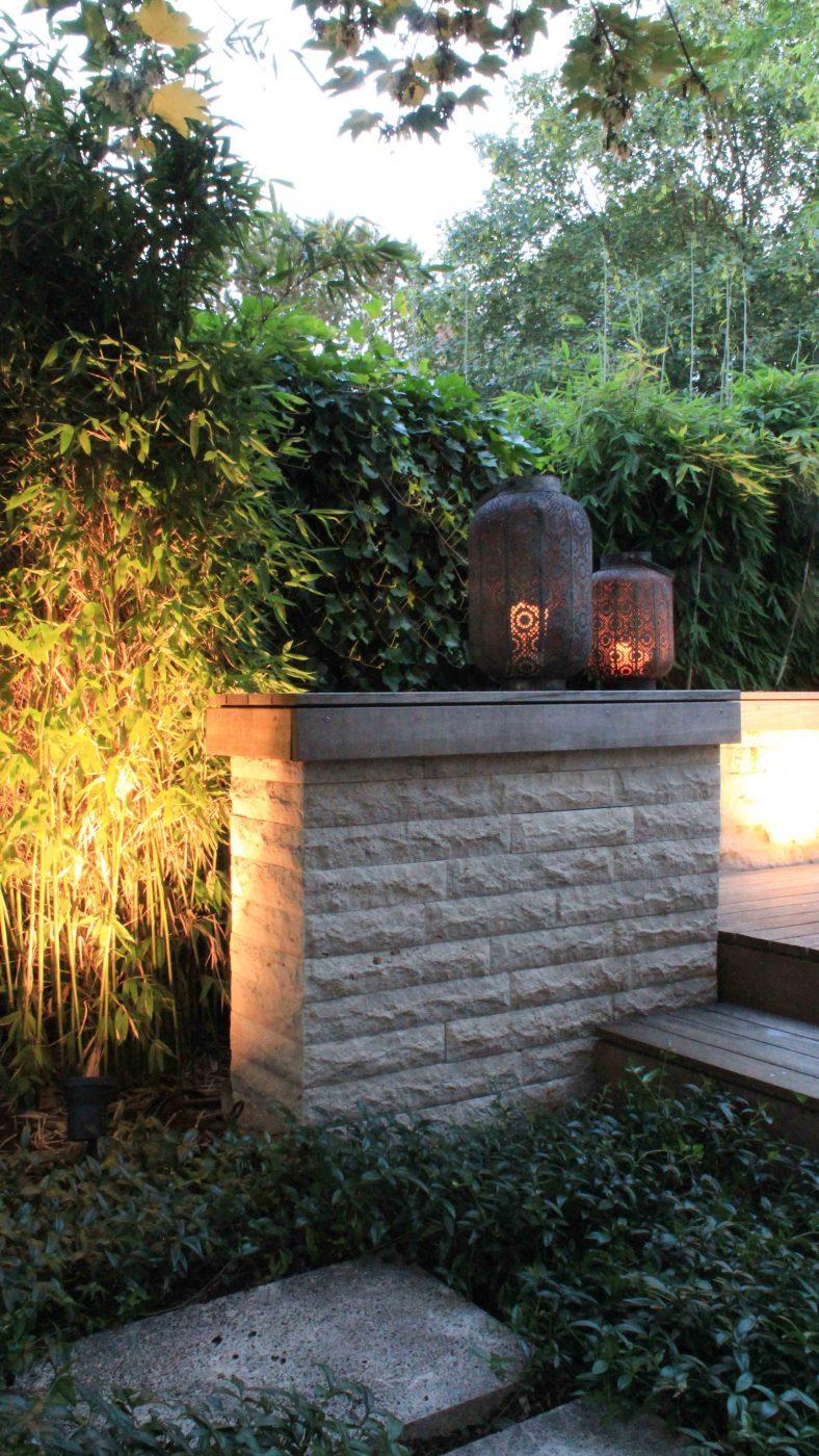 Gartenmauer aus Travertin