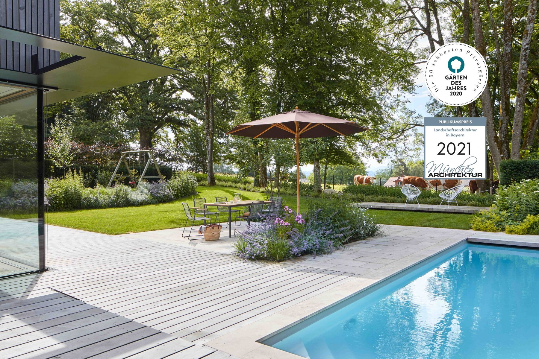 Mehrfach ausgezeichneter Garten. Preisgekröntes Gartendesign. Auszeichnung 50 schönste Privatgärten 2020